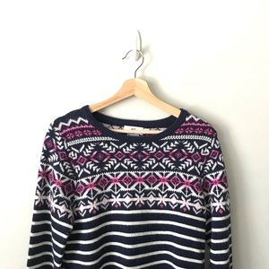 Vineyard Vines Stripe Fair Isle Sweater Cashmere